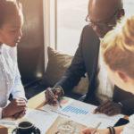 Successful Multi ethnic business people